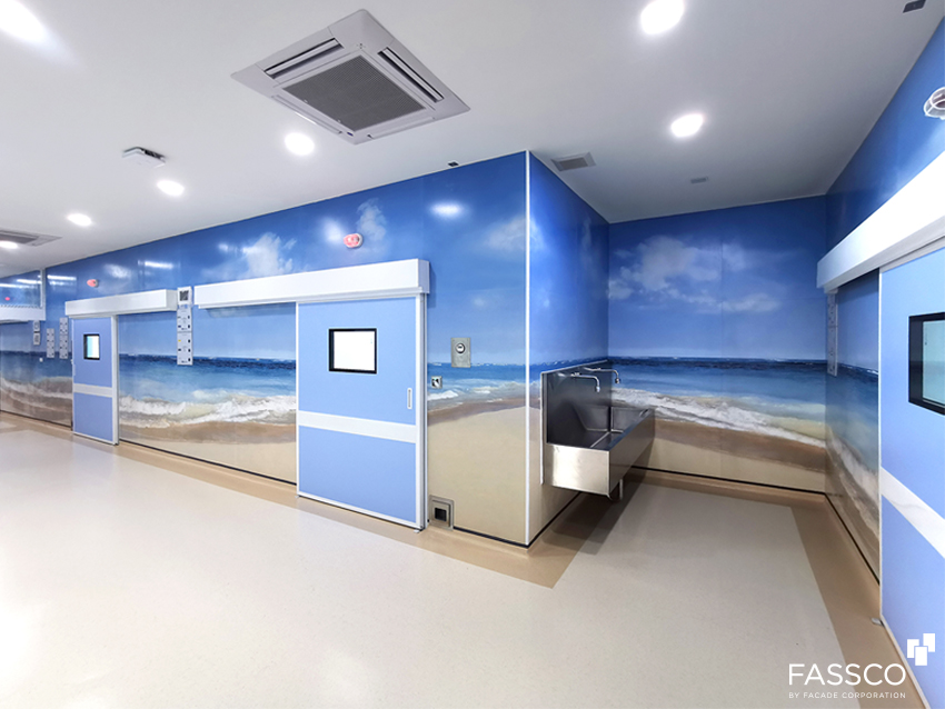 Fibrecement Wall Covering Hospital Decoration